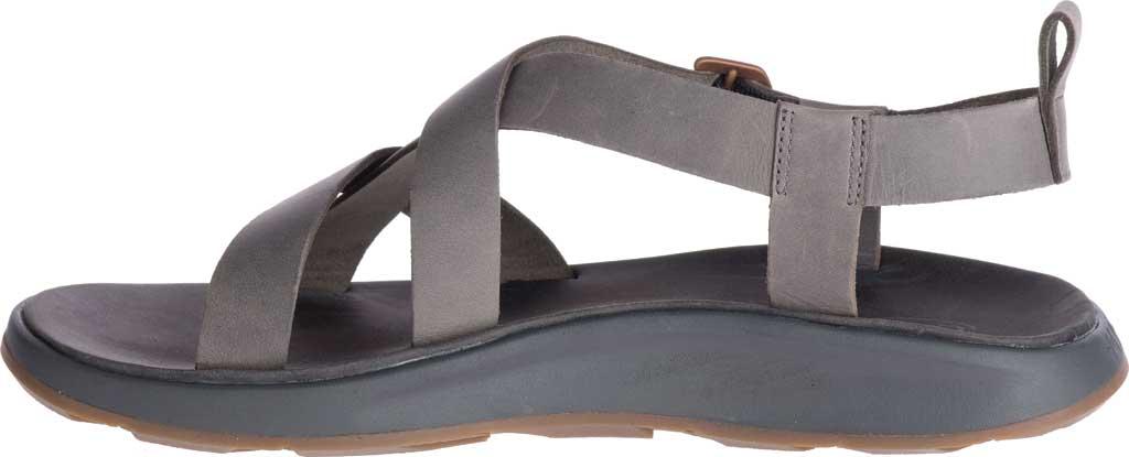 Men's Chaco Wayfarer Leather Sandal, Gray Full Grain Leather, large, image 3
