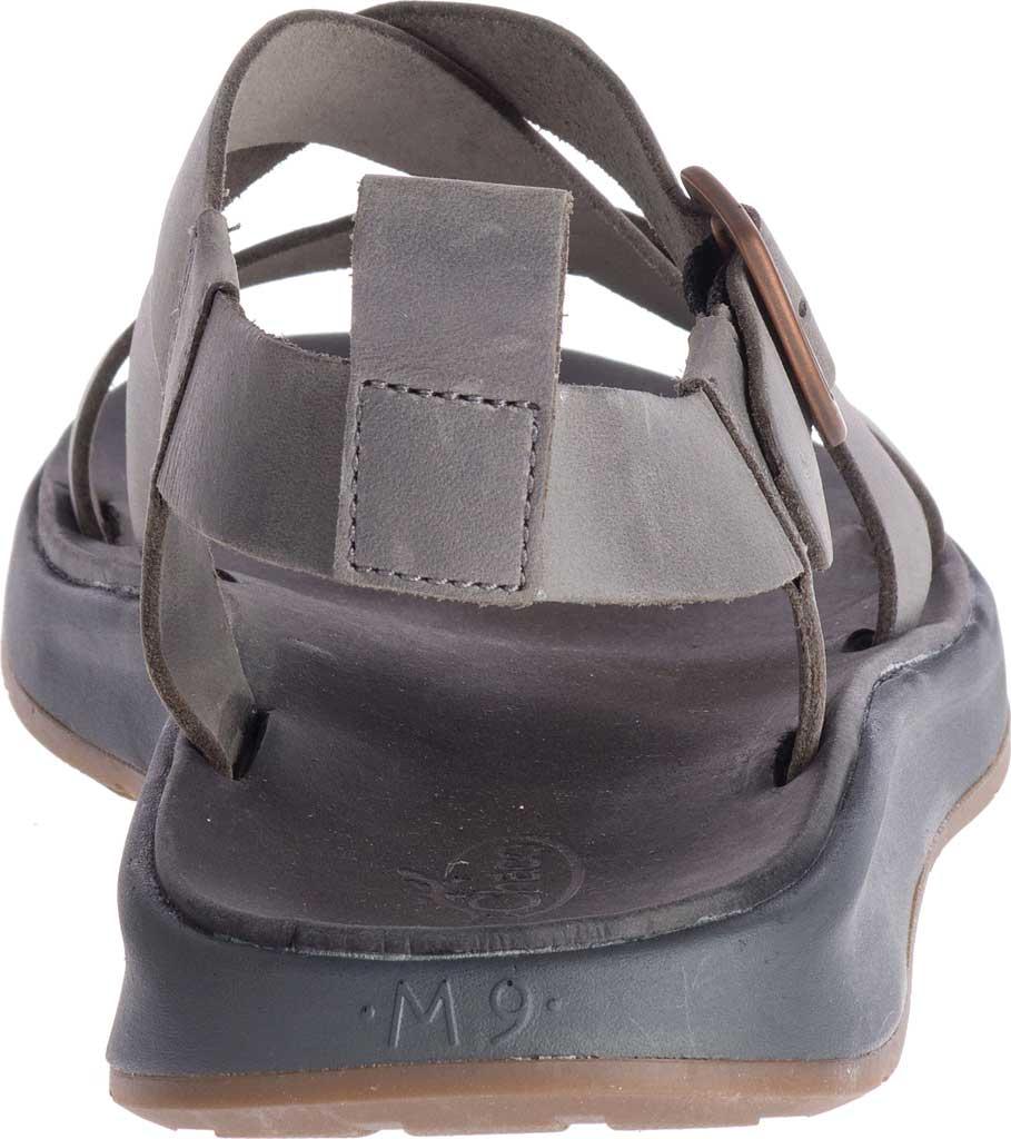 Men's Chaco Wayfarer Leather Sandal, Gray Full Grain Leather, large, image 4