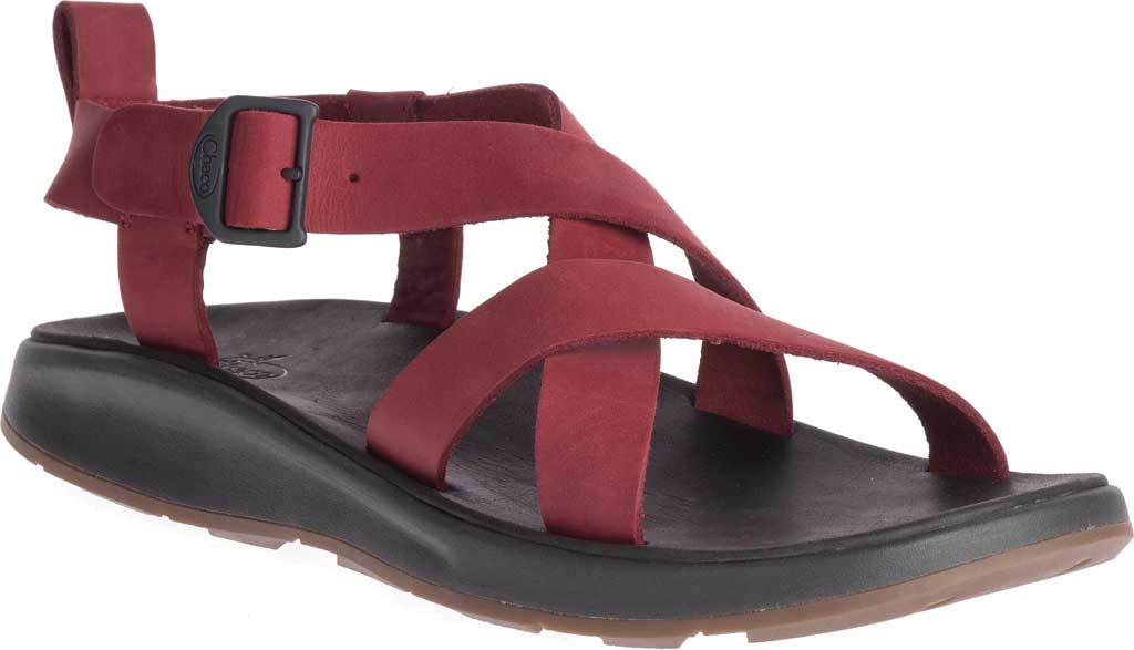Men's Chaco Wayfarer Leather Sandal, Port Full Grain Leather, large, image 1