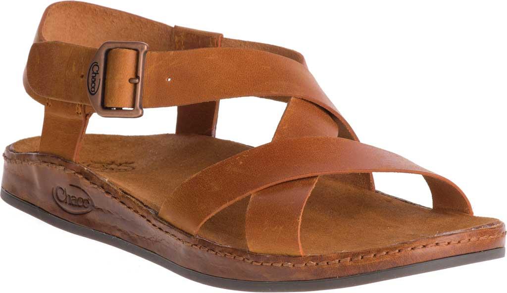 Women's Chaco Wayfarer Leather Sandal, Rust Full Grain Leather, large, image 1