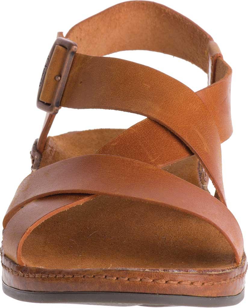 Women's Chaco Wayfarer Leather Sandal, Rust Full Grain Leather, large, image 4