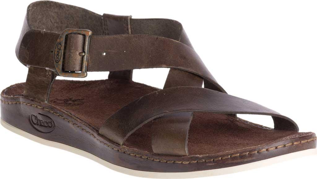 Women's Chaco Wayfarer Leather Sandal, Otter Full Grain Leather, large, image 1