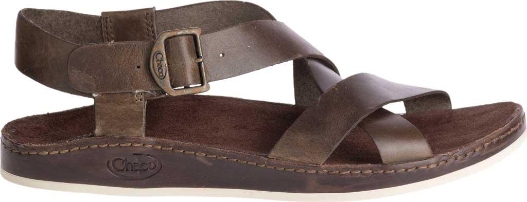 Women's Chaco Wayfarer Leather Sandal, Otter Full Grain Leather, large, image 2