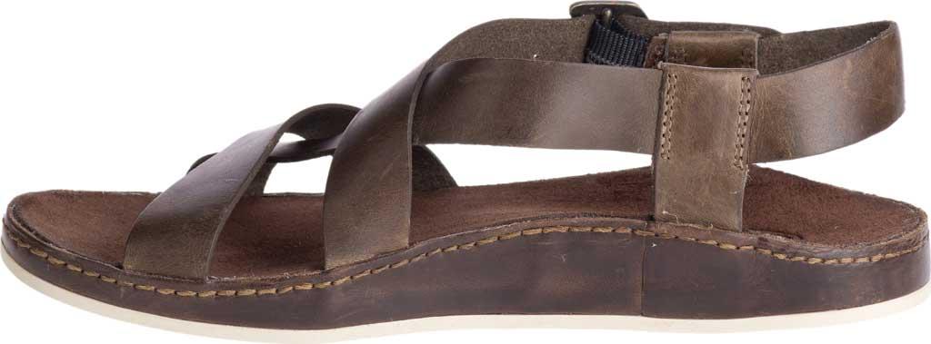 Women's Chaco Wayfarer Leather Sandal, Otter Full Grain Leather, large, image 3
