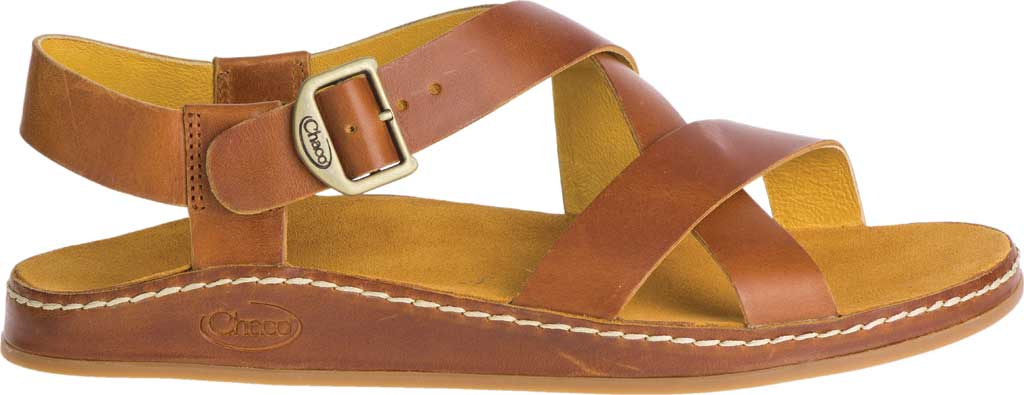 Women's Chaco Wayfarer Leather Sandal, Ochre Full Grain Leather, large, image 2