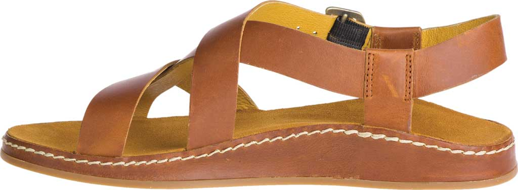 Women's Chaco Wayfarer Leather Sandal, Ochre Full Grain Leather, large, image 3