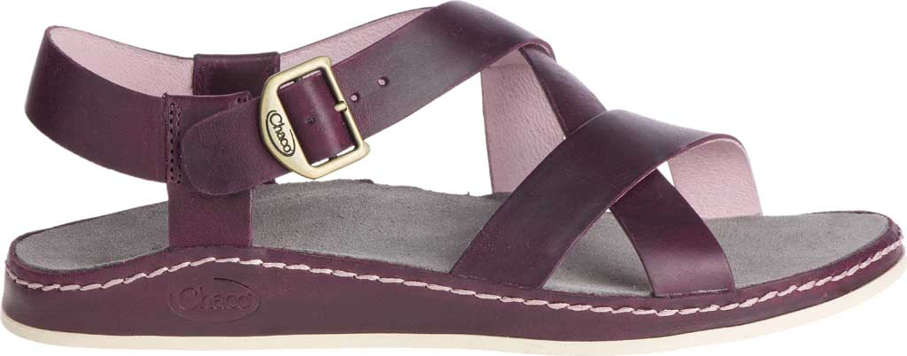 Women's Chaco Wayfarer Leather Sandal, Fig Full Grain Leather, large, image 2