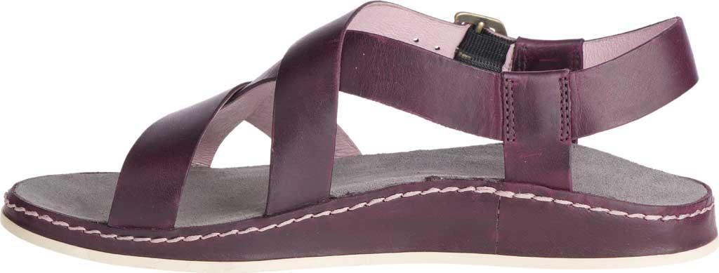 Women's Chaco Wayfarer Leather Sandal, Fig Full Grain Leather, large, image 3