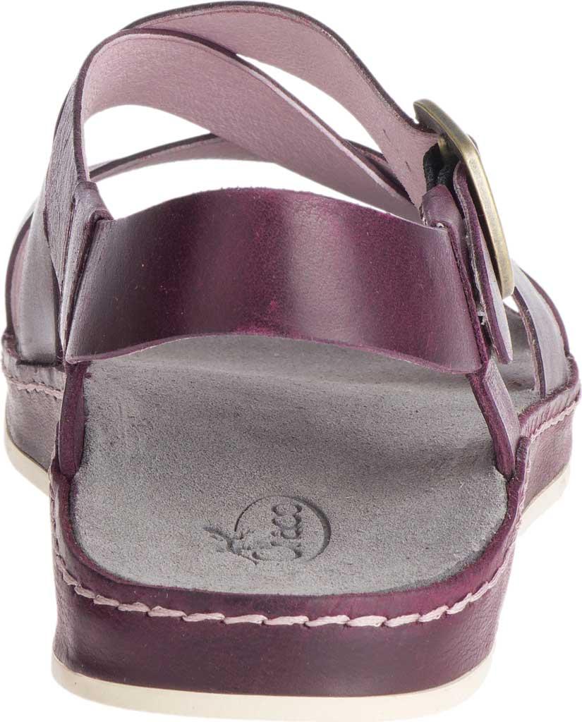 Women's Chaco Wayfarer Leather Sandal, Fig Full Grain Leather, large, image 4