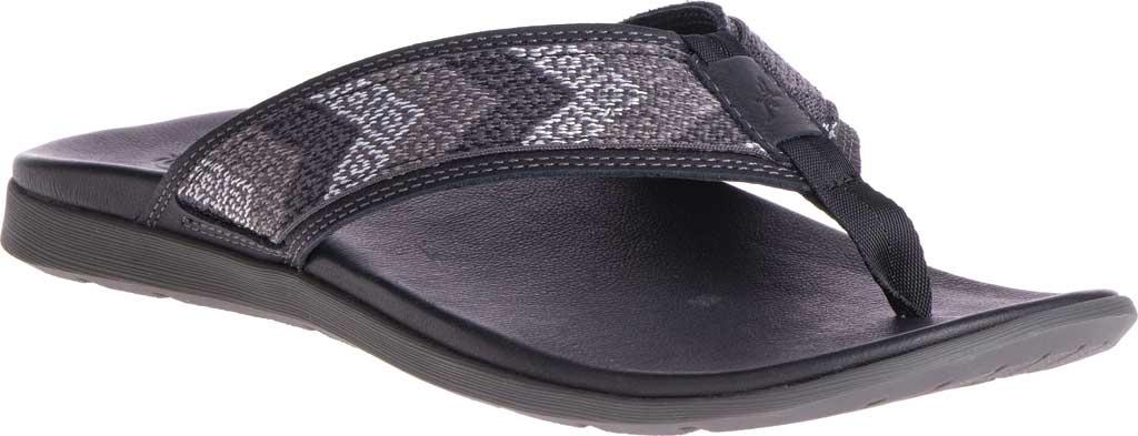 Men's Chaco Marshall Thong Sandal, Taste Black Leather, large, image 1