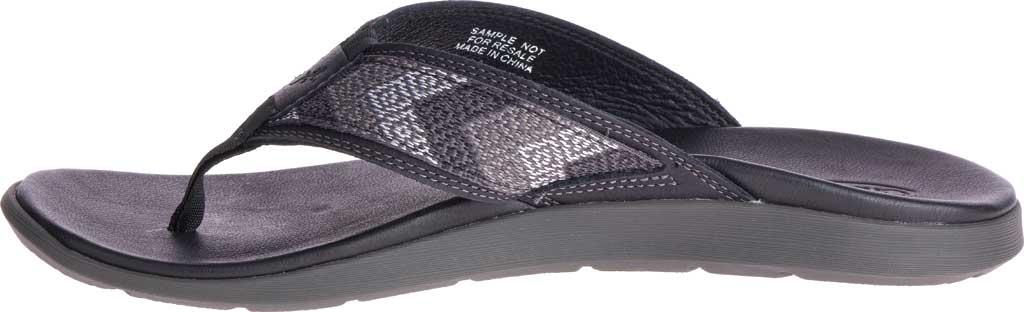 Men's Chaco Marshall Thong Sandal, Taste Black Leather, large, image 3