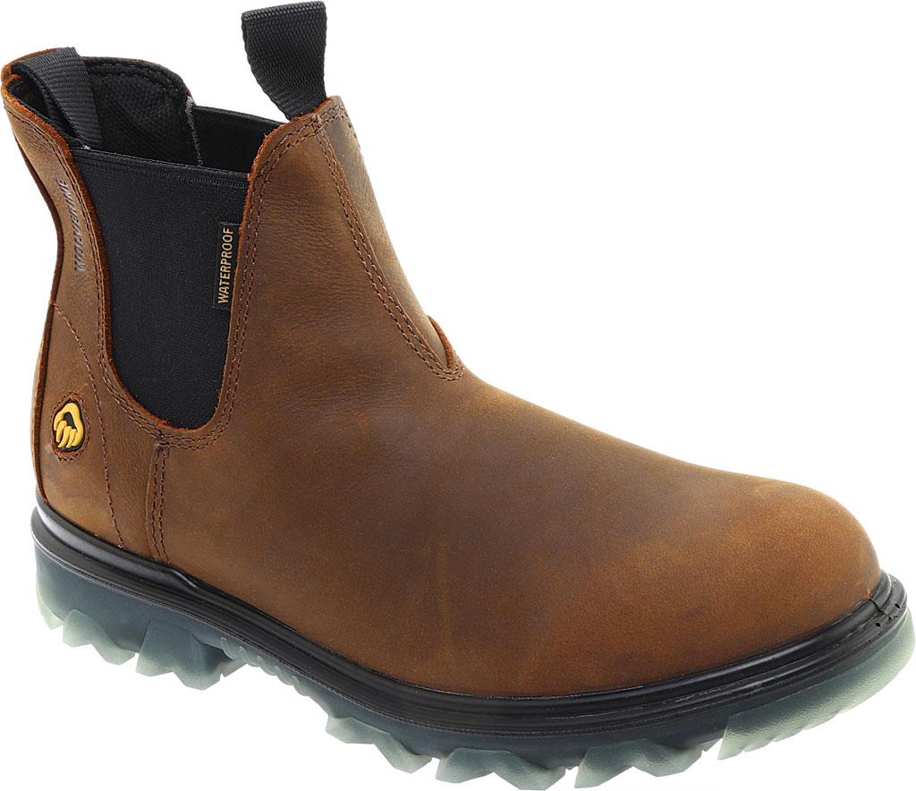 Men's Wolverine I-90 Romeo Soft-Toe Chelsea Boot, Sudan Brown Full Grain Leather, large, image 1