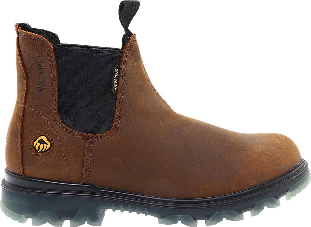 Men's Wolverine I-90 Romeo Soft-Toe Chelsea Boot, Sudan Brown Full Grain Leather, large, image 2