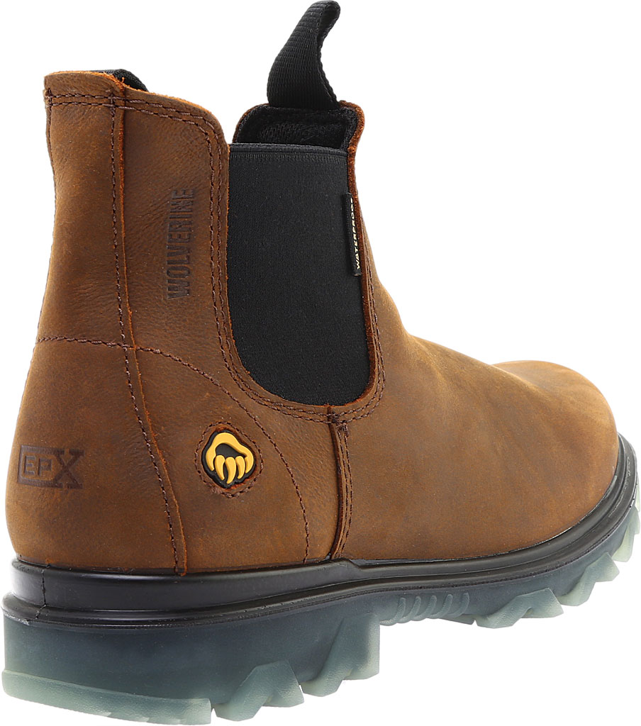 Men's Wolverine I-90 Romeo Soft-Toe Chelsea Boot, Sudan Brown Full Grain Leather, large, image 4