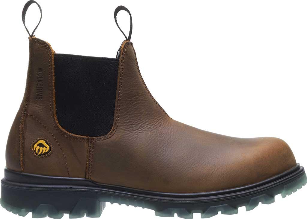 Men's Wolverine I-90 Romeo CarbonMax Toe Chelsea Boot, Sudan Brown Full Grain Leather, large, image 2
