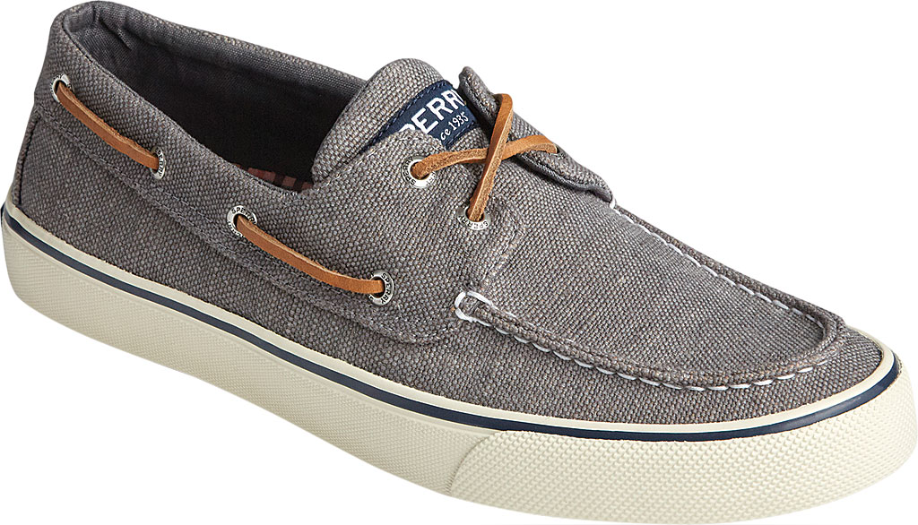 Men's Sperry Top-Sider Bahama II Boat Shoe, Dark Grey Distressed Canvas, large, image 1