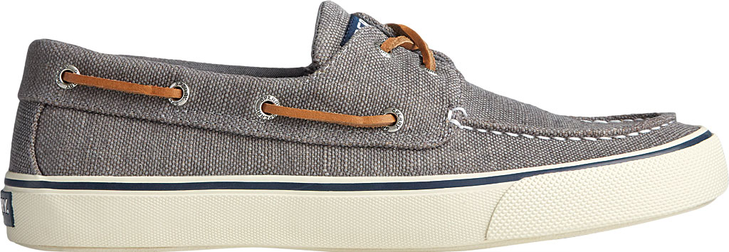 Men's Sperry Top-Sider Bahama II Boat Shoe, Dark Grey Distressed Canvas, large, image 2