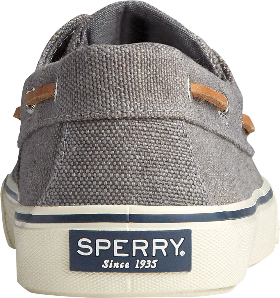 Men's Sperry Top-Sider Bahama II Boat Shoe, Dark Grey Distressed Canvas, large, image 4