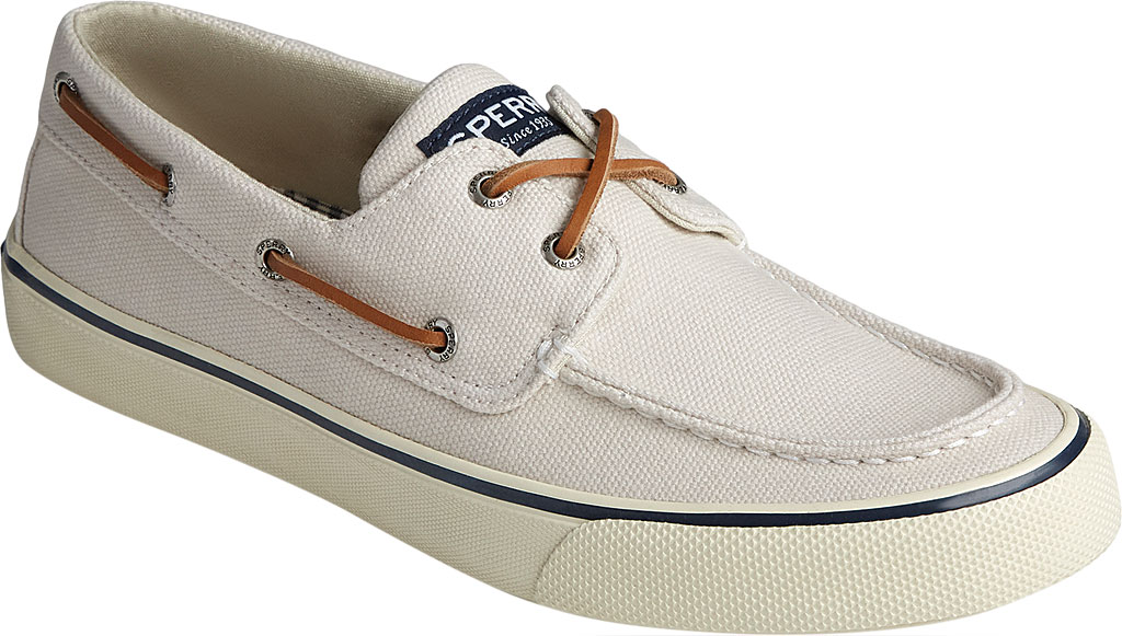 Men's Sperry Top-Sider Bahama II Boat Shoe, Off White Distressed Canvas, large, image 1