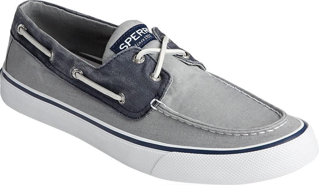 Men's Sperry Top-Sider Bahama II Boat Shoe, Salt Washed Grey/Navy Canvas, large, image 1