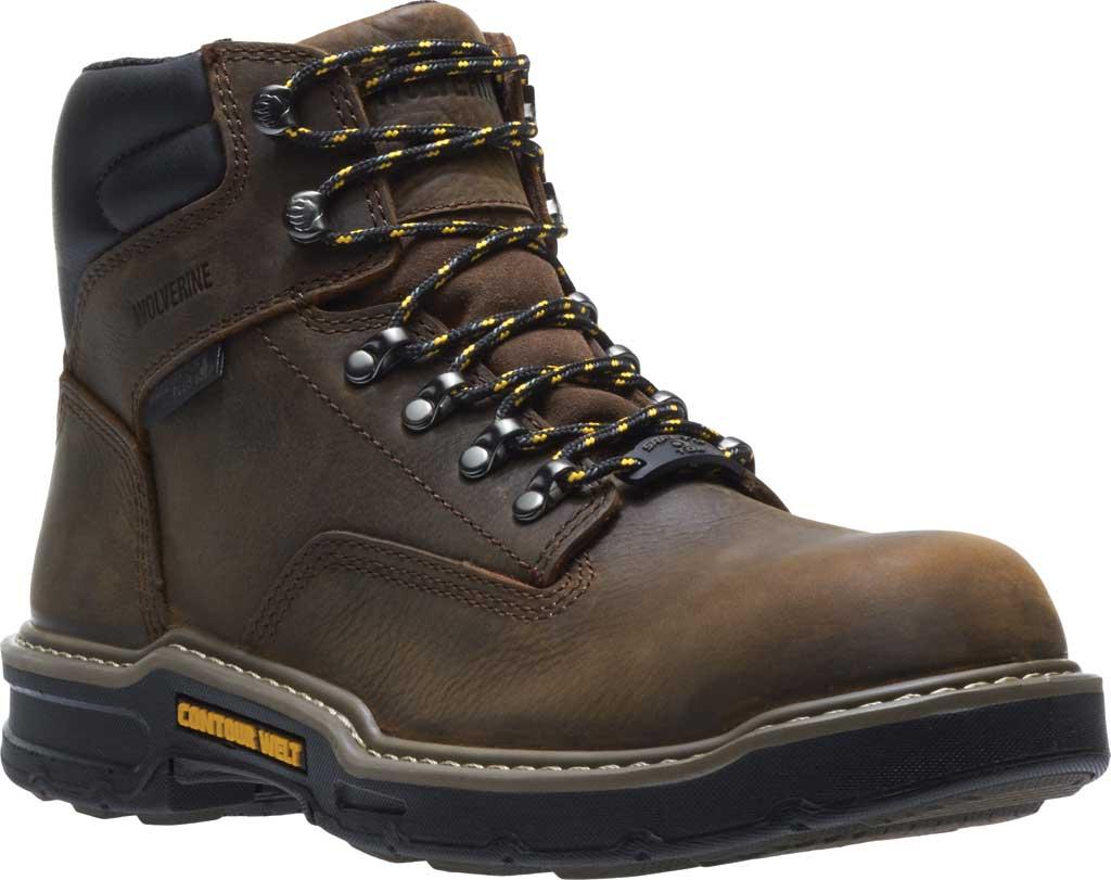 "Men's Wolverine Bandit CarbonMAX Waterproof 6"" Boot, Dark Brown Full Grain Leather, large, image 1"