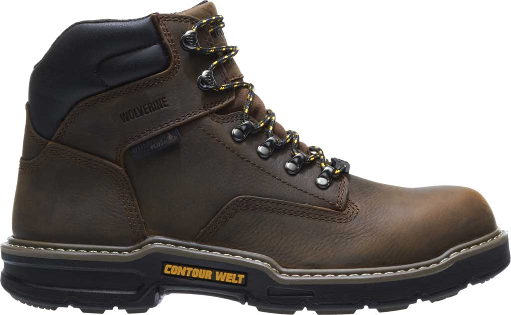 "Men's Wolverine Bandit CarbonMAX Waterproof 6"" Boot, Dark Brown Full Grain Leather, large, image 2"