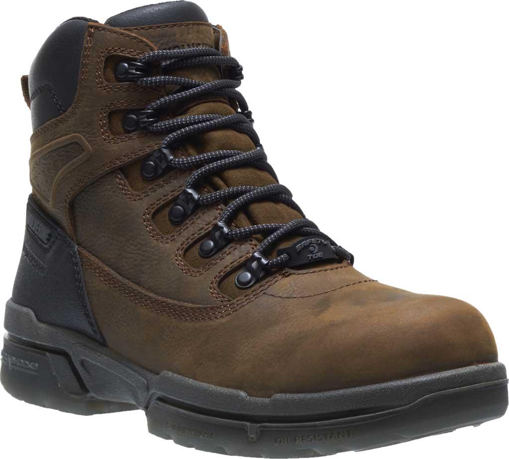 "Men's Wolverine I-90 DuraShocks CarbonMAX 6"" Work Boot, Dark Brown Full Grain Leather, large, image 1"