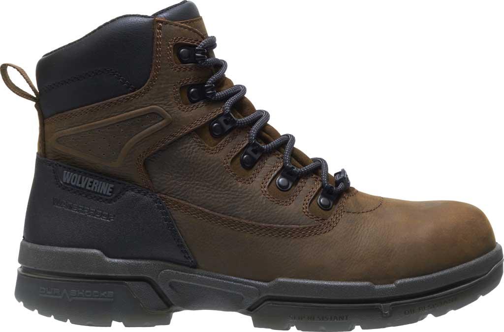 "Men's Wolverine I-90 DuraShocks CarbonMAX 6"" Work Boot, Dark Brown Full Grain Leather, large, image 2"