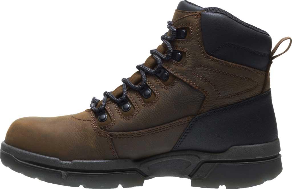 "Men's Wolverine I-90 DuraShocks CarbonMAX 6"" Work Boot, Dark Brown Full Grain Leather, large, image 3"