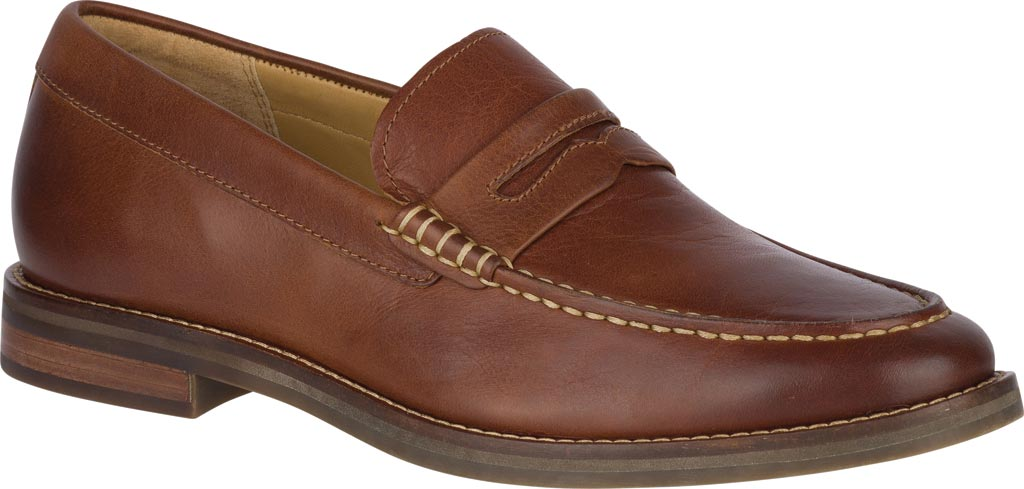 Men's Sperry Top-Sider Gold Exeter Penny Loafer, Tan Leather, large, image 1
