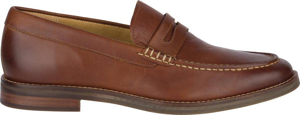 Men's Sperry Top-Sider Gold Exeter Penny Loafer, Tan Leather, large, image 2