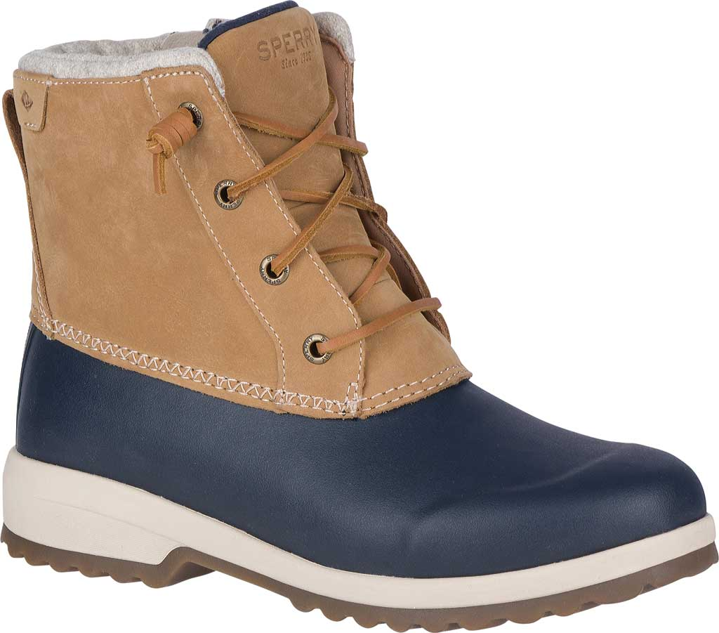 Women's Sperry Top-Sider Maritime Repel Snow Boot, Tan/Navy Leather, large, image 1