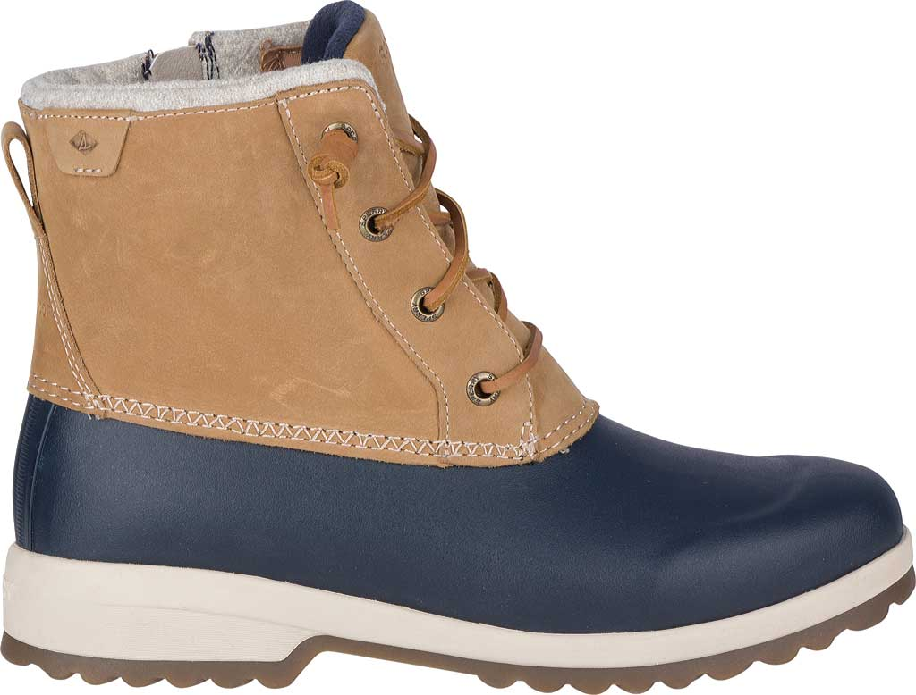 Women's Sperry Top-Sider Maritime Repel Snow Boot, Tan/Navy Leather, large, image 2