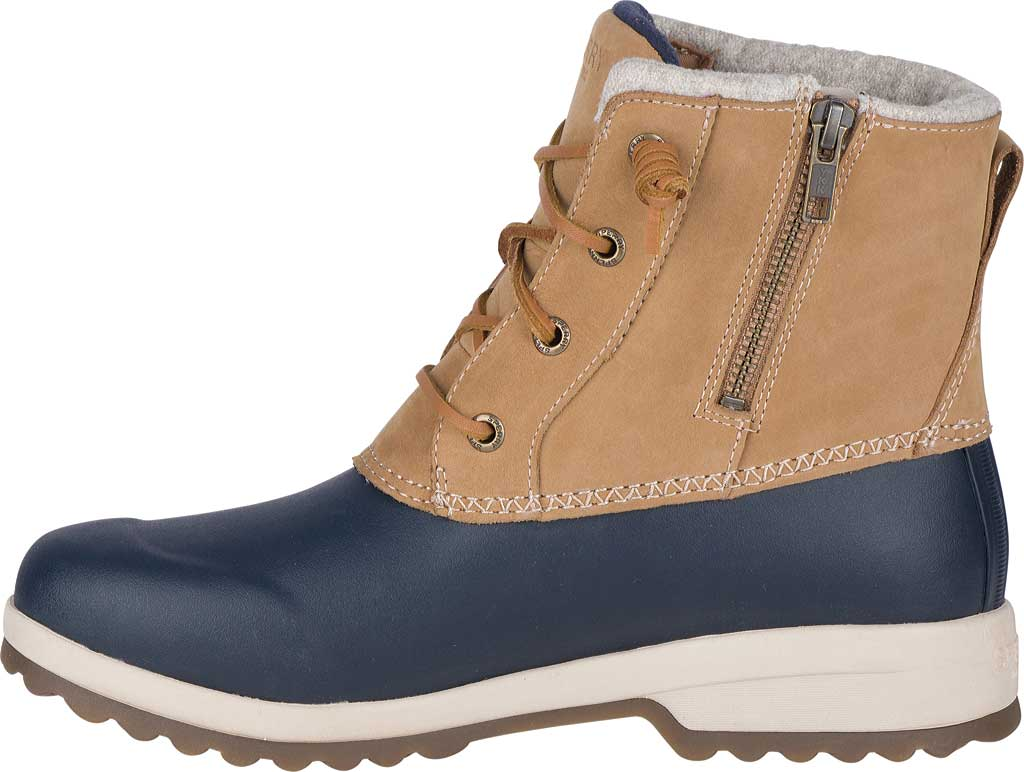 Women's Sperry Top-Sider Maritime Repel Snow Boot, Tan/Navy Leather, large, image 3