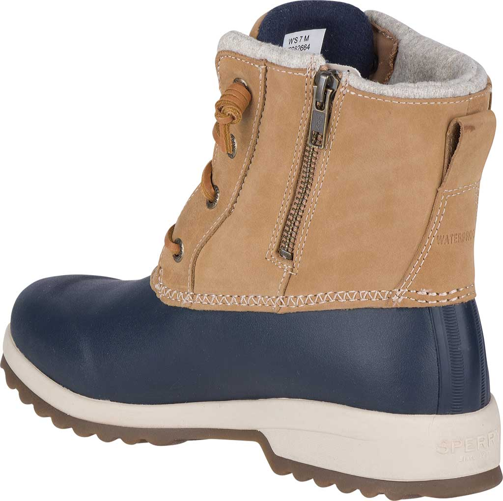 Women's Sperry Top-Sider Maritime Repel Snow Boot, Tan/Navy Leather, large, image 4