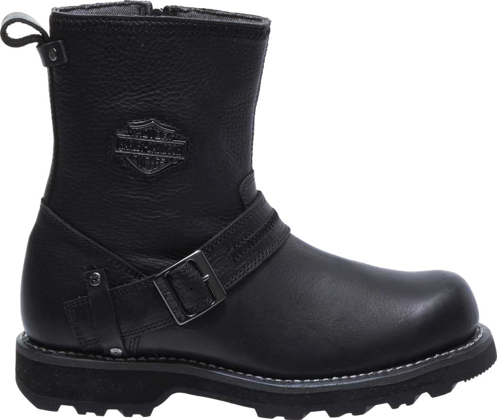 Men's Harley-Davidson Richton Motorcycle Boot, Black Full Grain Leather, large, image 2
