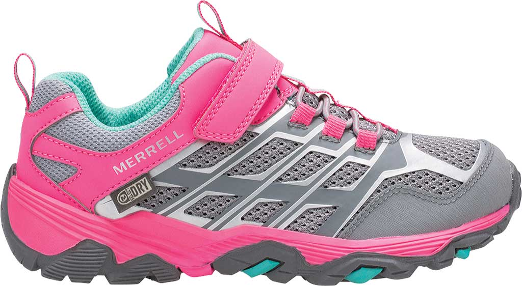 Children's Merrell Moab FST Low A/C Waterproof Hiker Big Kid, Grey/Coral, large, image 2