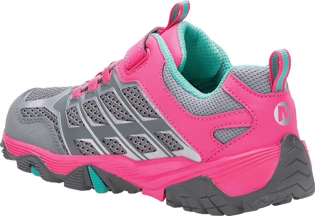 Children's Merrell Moab FST Low A/C Waterproof Hiker Big Kid, Grey/Coral, large, image 3