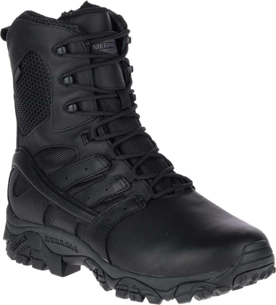 "Men's Merrell Work Moab 2 8"" Response Waterproof Boot, Black Waterproof Leather/Textile, large, image 1"