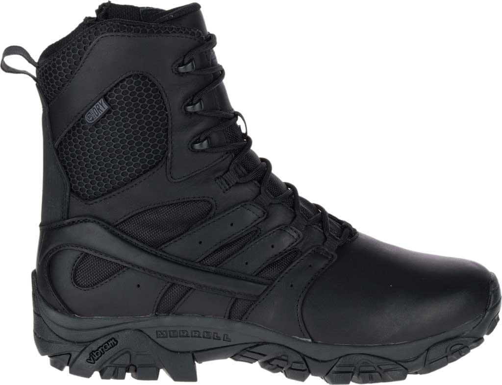 "Men's Merrell Work Moab 2 8"" Response Waterproof Boot, Black Waterproof Leather/Textile, large, image 2"