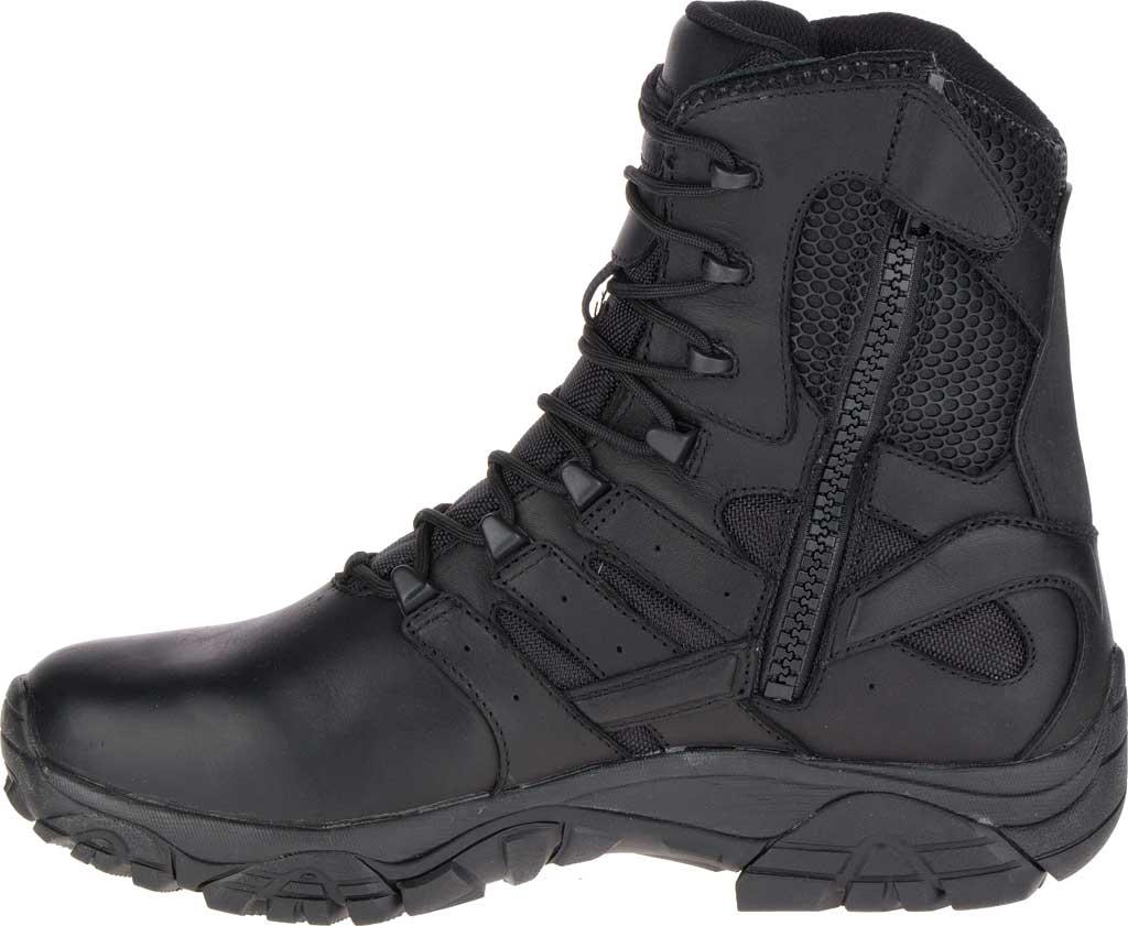 "Men's Merrell Work Moab 2 8"" Response Waterproof Boot, Black Waterproof Leather/Textile, large, image 3"