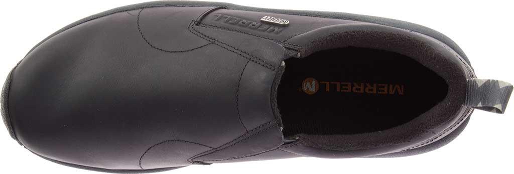 Men's Merrell Jungle Moc Leather Waterproof Ice+ Slip-On, Black Leather, large, image 2