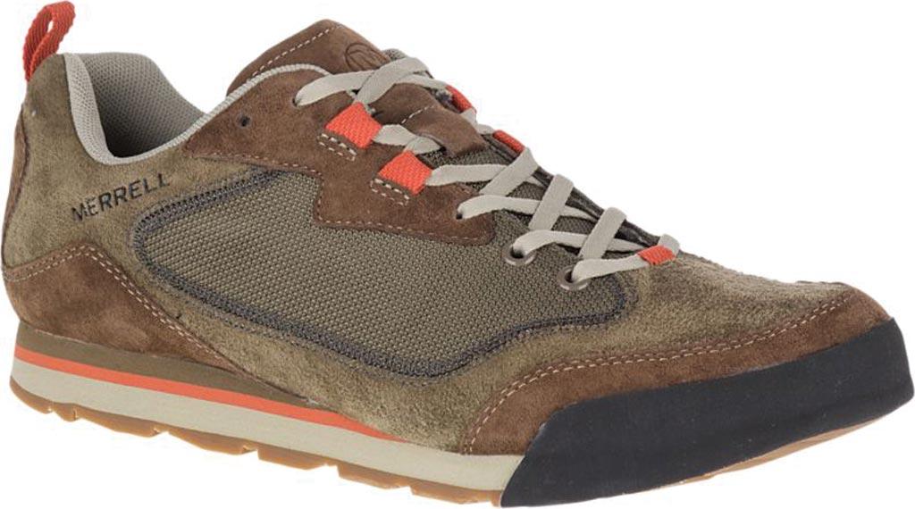 Men's Merrell Burnt Rock Travel Suede Sneaker, Dusty Olive Suede/Mesh, large, image 1
