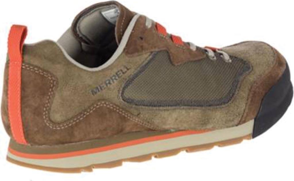 Men's Merrell Burnt Rock Travel Suede Sneaker, Dusty Olive Suede/Mesh, large, image 2