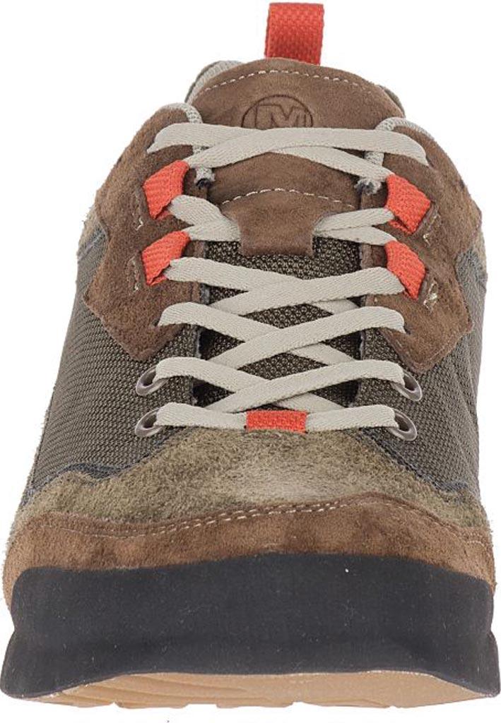 Men's Merrell Burnt Rock Travel Suede Sneaker, Dusty Olive Suede/Mesh, large, image 4