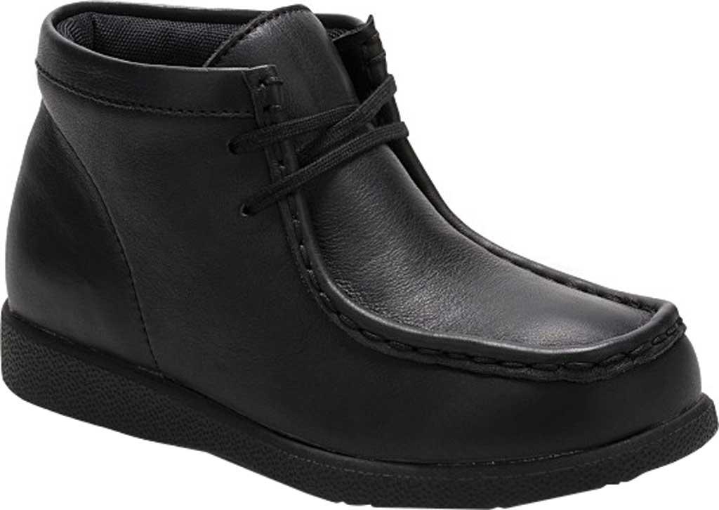 Boys' Hush Puppies Bridgeport III Chukka Boot, Black Leather, large, image 1