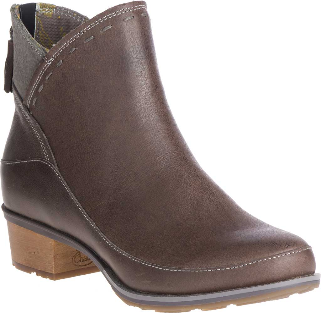 Women's Chaco Cataluna Mid Boot, Taupe Full Grain Leather, large, image 1