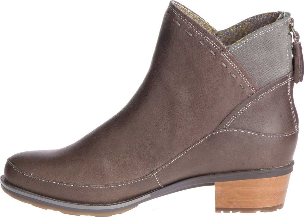 Women's Chaco Cataluna Mid Boot, Taupe Full Grain Leather, large, image 3