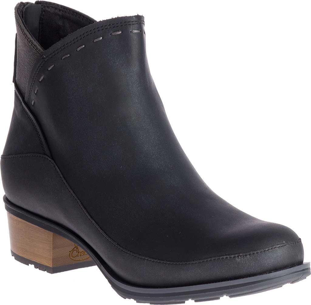 Women's Chaco Cataluna Mid Boot, Black Full Grain Leather, large, image 1