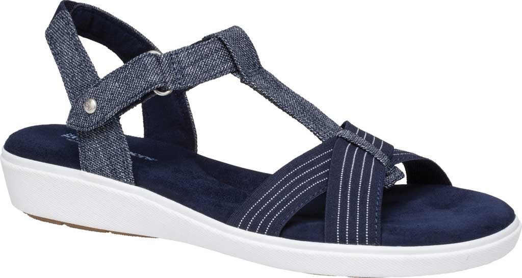Women's Grasshoppers Ruby T Strap Sandal, Peacoat Navy Chambray, large, image 1